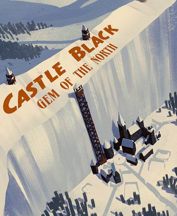 Westeros Travel Poster by Marco Caradonna X Giclee prints.